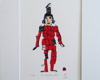 Tin Tomato Girl (limited edition, original and mounted screenprint)