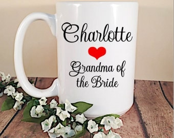 Personalized Grandparents of the Bride and Groom Coffee Mug - Coffee Mug Gift for Grandparents - Custom Wedding Gift