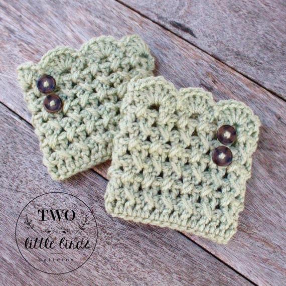 Crochet Pattern LACHLAN BOOT CUFFS crochet boot cuff