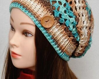 Sun hat Womens Hats Slouchy Hat Slouchy Beanie Summer Hat Slouch hat Lace hat Crochet Beanie Womens Accessories Girlfriend Gift for Women