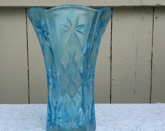 Ocean Blue Sea-Glass Vase