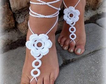 Crochet Barefoot Sandals / Beach Sandals / Yoga Shoes