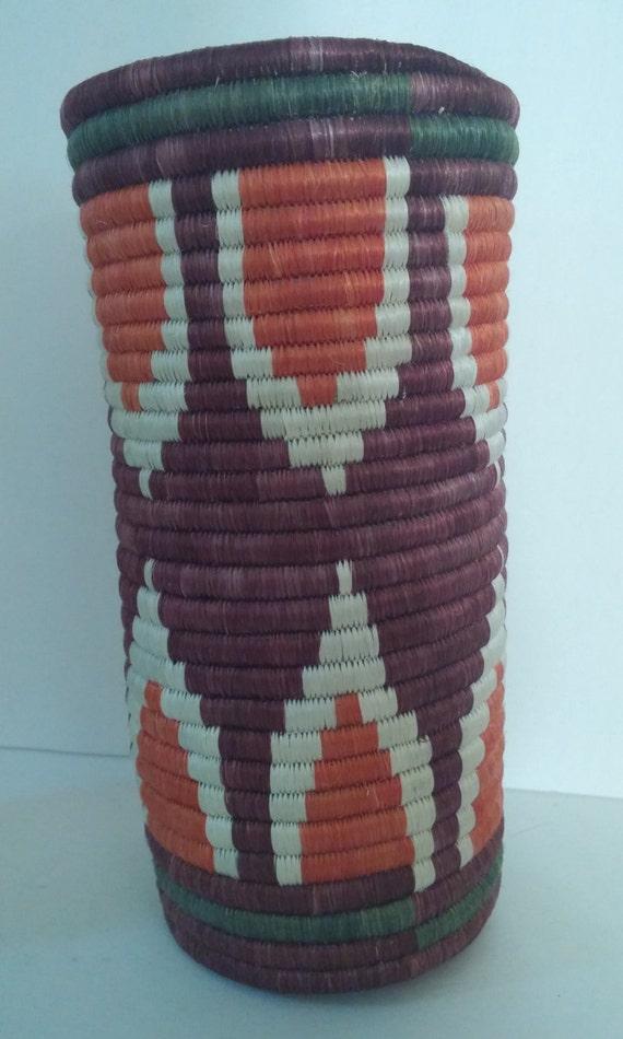 african basket vase lid cathedral hand made by butterandcompanies. Black Bedroom Furniture Sets. Home Design Ideas