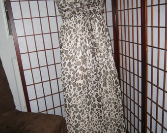 Women's Strapless Leopard Gown