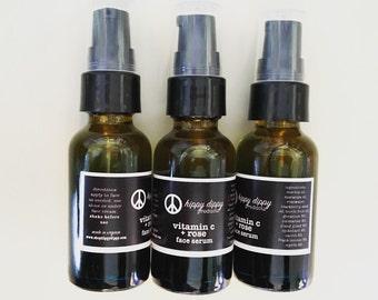 organic vitamin c + rose face serum