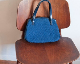 1960s mod upholstered Mary Tyler Moore handbag purse