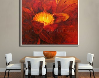 Large Wall Art, Modern Wall Art - Flower Wall Decor, Wall Canvas Art, Canvas Wall Decor Large Art Prints, Abstract Modern Art