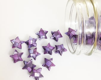 48 Purple Origami Stars: Ombre - Tile - Mini Stars - Origami Star Decoration - Folded Paper Stars - Purple and White - Baby Shower Decor