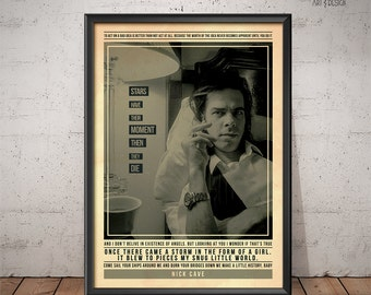 Nick Cave Poster - Quote Retro Music Poster - Music Print, Wall Art
