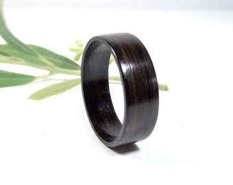 wooden engagement ring from ebony bentwood ring wooden ring for men - Wooden Wedding Rings For Men
