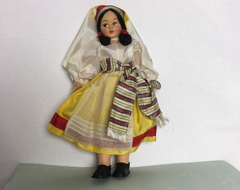"""9"""" Cloth Doll from Eros, Florence, Hand made in Italy - Vintage"""