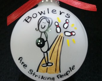 bowling ornament,bowling gift, bowlers personalized christmas ornament, bowlers ornament, bowling, bowler,bowling,sport,sports