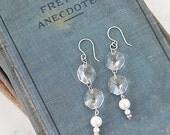 Statement Earrings for Her - Crystal Earrings - Dangle Earrings for Mom - Maid of Honor Earrings -Gift Idea for Women