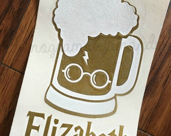BUTTER BEER Harry Potter Decal Personalized- Any Color- Free Shipping!