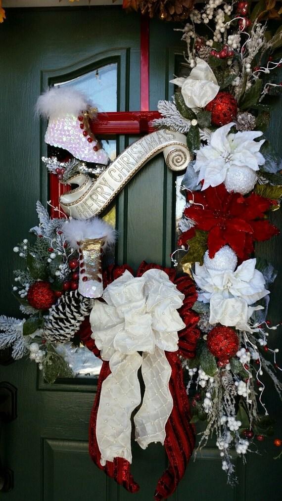 Christmas wreath poinsettia wreath red christmas wreath for 5ft poinsettia garland christmas decoration
