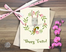 Easter bunny, Easter card, easter decorations, Bunny card, Easter greeting card, Rabbit art, Cute bunny art, Funny easter card, easter egg