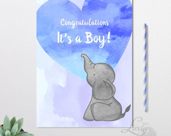 Its a boy card, Congratulations Card, Baby Shower Card, Mama To Be Card, Baby Boy, Welcome Baby Card, Shower Card, Pregnant Mother Card