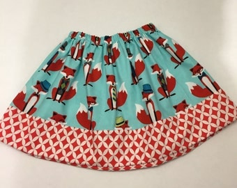 Modern Girls Twirly Fox Skirt