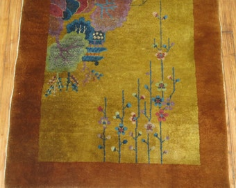 Antique Chinese Art Deco Rug 3'1''x5'10''