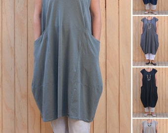 Ladies Lagenlook Plus Size Tunic Dress Parachute Boho Quirky UK 16 18 20 22 24 26 28 30/US 12 14 16 18 20 22 24 26 28 XL 8689