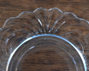 Vintage Clear Molded Glass Appetizer Snack Plate