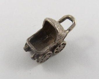 A Baby Carriage Sterling Silver Charm or Pendant.