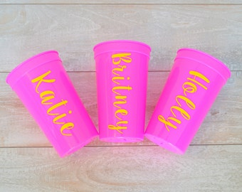 Personalized Bridesmaids Cups