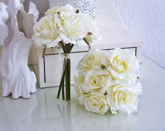 wedding rose bouquets, white or pink rose bouquet, flower bouquet