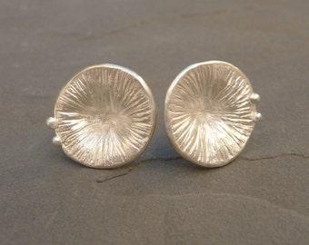 SeaWeed Earrings, Stud Silver 925 Earrings, Organic Earrings, Nature Treasures, Marine  Earrings, Organic Jewelry,  Nature silver Jewelry