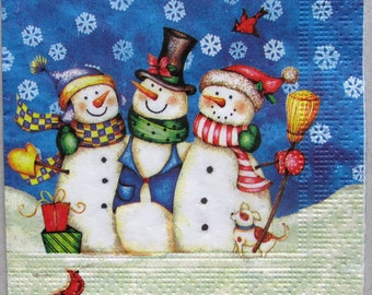 snowmans decoupage paper, Christmas and New Year Decoupage paper napkins