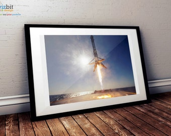 SpaceX Falcon 9 Historic Vertical Landing Poster / Print - High Quality