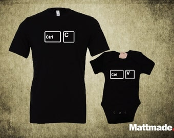 Dad & Baby Matching Shirts. Copy Paste Set - T-shirt and jumper for Mom or Dad and Baby