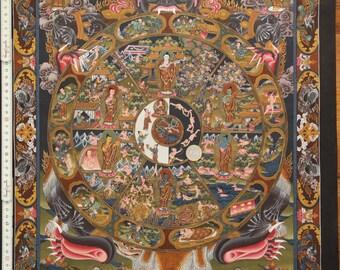 Thangka Wheel of Life (49 x 65 cm) Masterpiece