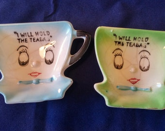 Two Vintage Teabag Holders.