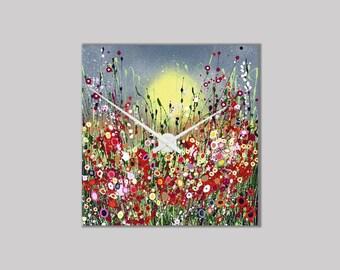 Bespoke Ceramic Clock. Handmade Clock. Quartz Clock Movement. 20 x 20 cm. Gift Box.