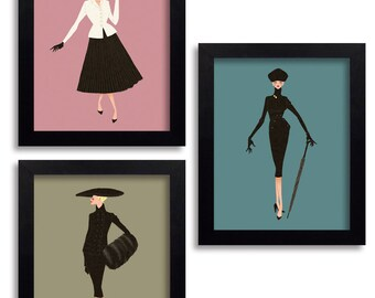 Christian Dior New Look - Fashion Illustration Print Fashion Print Fashion Art Fashion Wall Art Fashion Poster Fashion Sketch Art Print