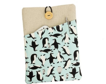 """Penguin iPad case, iPad mini cover, iPad Air 2 sleeve, iPad Pro 9.7"""" case, iPad Air cover, iPad mini 4, iPad Pro case, iPad Air, Penguin"""