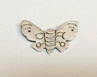 Sterling Silver Moth Brooch