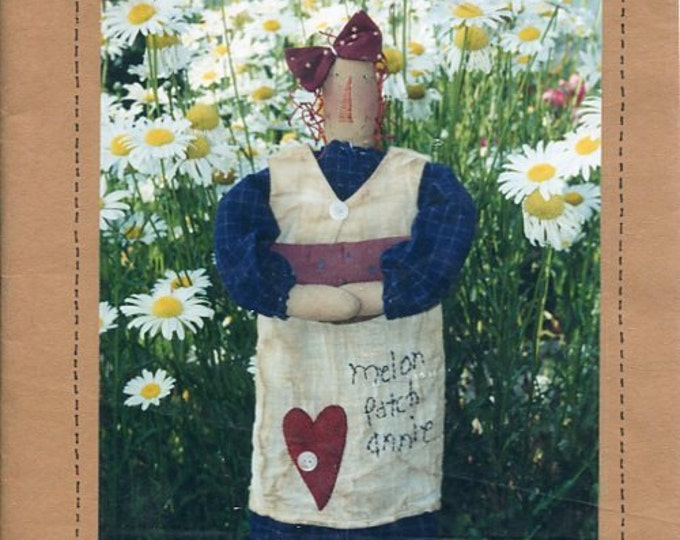 """FREE US SHIP Little Stitches 359 Melon Patch Annie Doll 18"""" Primitive Old Store Stock Sewing Pattern Ragdoll cloth"""