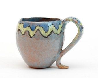 Ceramic handmade coffee cup named Coffeeme style,  toddler mug, Stoneware mug, pottery mug, ceramic mug, ceramics and pottery, céramique