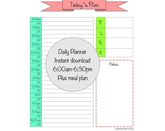 Colorful Daily Planner PDF File Instant Download