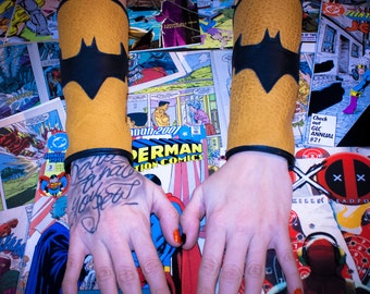 Batman Leather Gauntlets For Cosplay