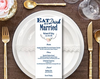 Eat Drink and Be Married Wedding Menu
