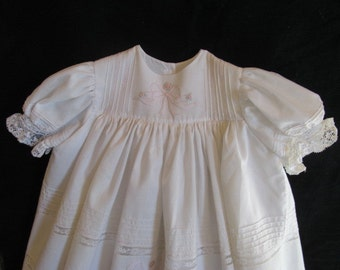 White Easter Dress with Embroidery.  Size 6 to 12 month