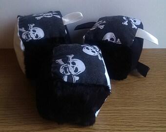 Pirate Skull n Crossbones Baby Sensory Soft Cube Blocks (Ready to Ship)