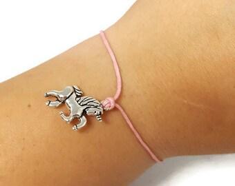 Unicorn Charm Bracelet, Stocking Stuffer for her, Unicorn Wish Bracelet, Unicorn Friendship Bracelet, Unicorn Anklet, Wish Bracelet, Unicorn