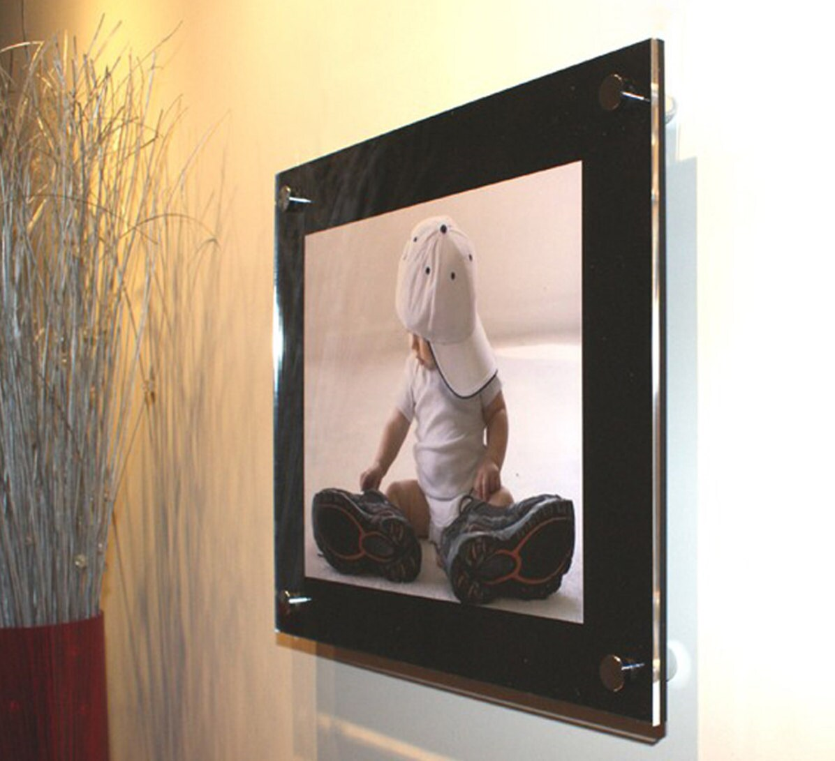 black cheshire acrylic 22x16 picture photo wall frame for a 12x18 305x407cm photo made in uk