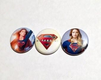 Supergirl Button Set (3 Pack)