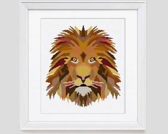 Lion cross stitch pattern, Lion king cross stitch pattern, lion counted cross stitch, lion cross stitch pdf pattern