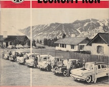1954 Mobilgas Economy Run - AAA Floyd Clymer LA Sun Valley, Chevy,Ford, packard